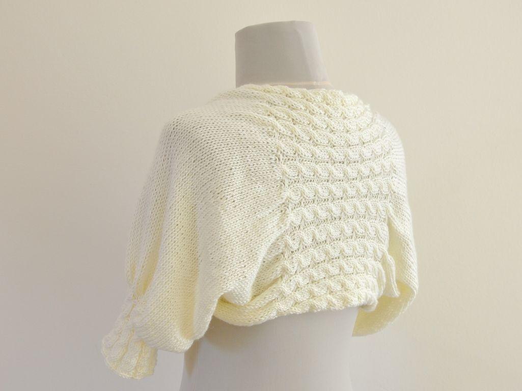 Ivory Shrug Bolero Bridal Shrug Cream Pearl Soft Elegant Chic ...