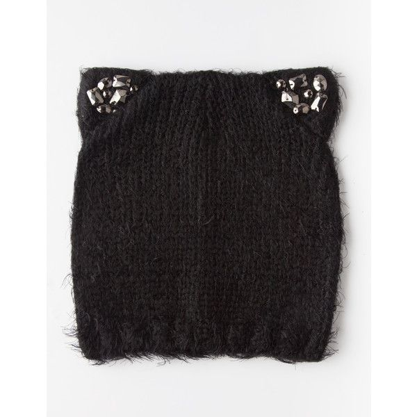 cef88d3ff9e204 Cat Ear Beanie ($15) ❤ liked on Polyvore featuring accessories, hats, cat  ear beanie, beanie hat, cat ear hat, beanie caps and cat ear beanie hat