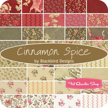 Cinnamon Spice Jelly Roll Blackbird Designs for Moda Fabrics - Fat Quarter Shop