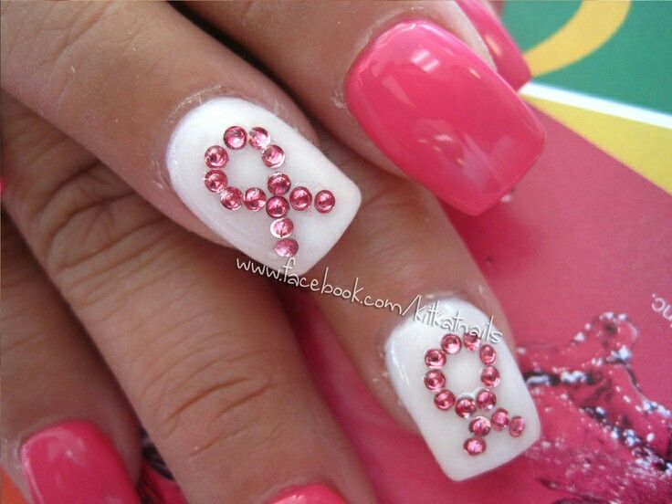 Pin By Zachary Boyles On Breast Cancer Nail Art Pinterest Breast