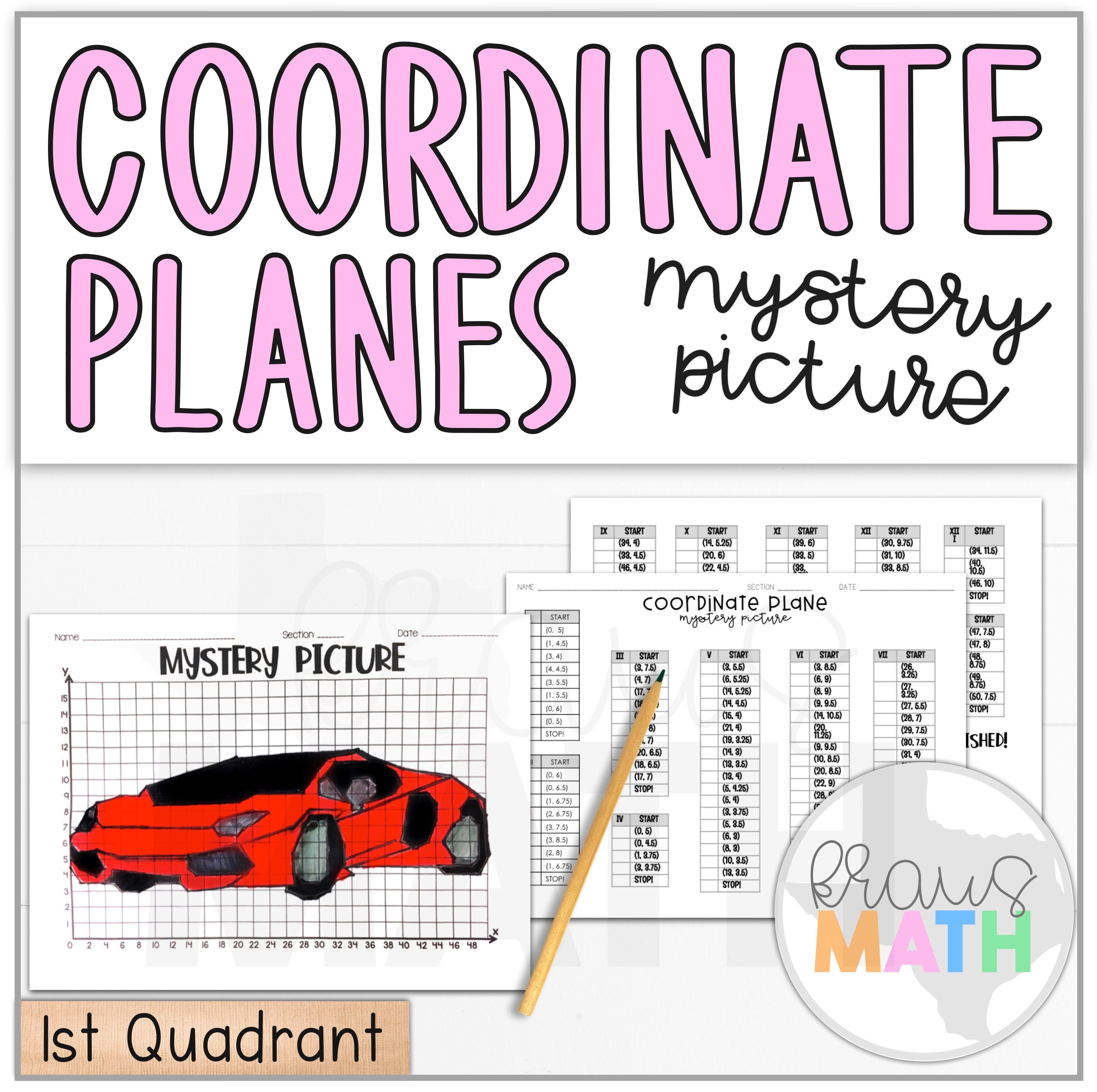 Lamborghini Sports Car Coordinate Plane Activity 1st Quadrant Coordinate Plane Graphing Coordinate Plane Activity Coordinate Plane