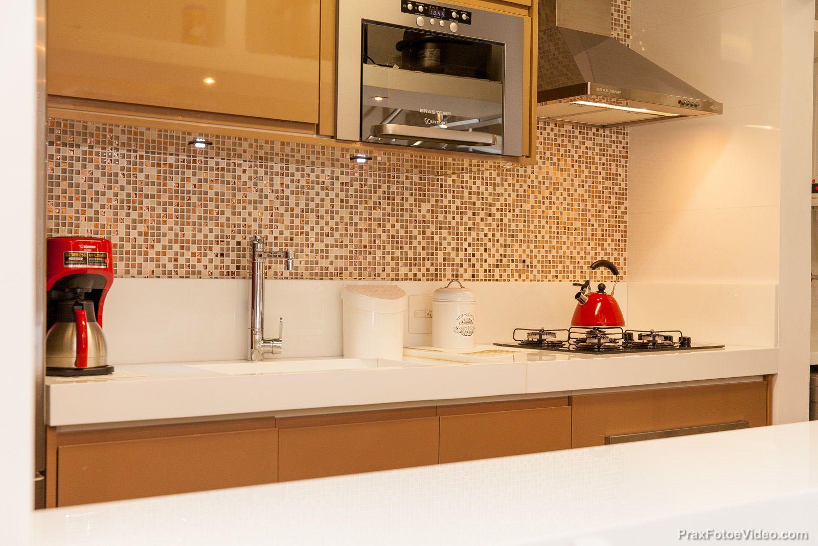 Cozinha Aberta Com Bancada Branca Ilha Branca Cozinha Americana