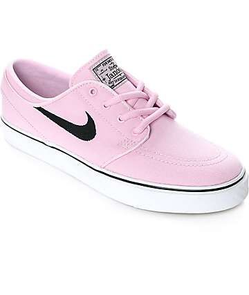 quality design 30196 92439 Nike SB Janoski Prism Pink Canvas Womens Skate Shoes