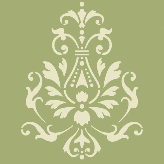 Utilice esta georginian accent pintura stencil para - Cenefas para pasillos ...