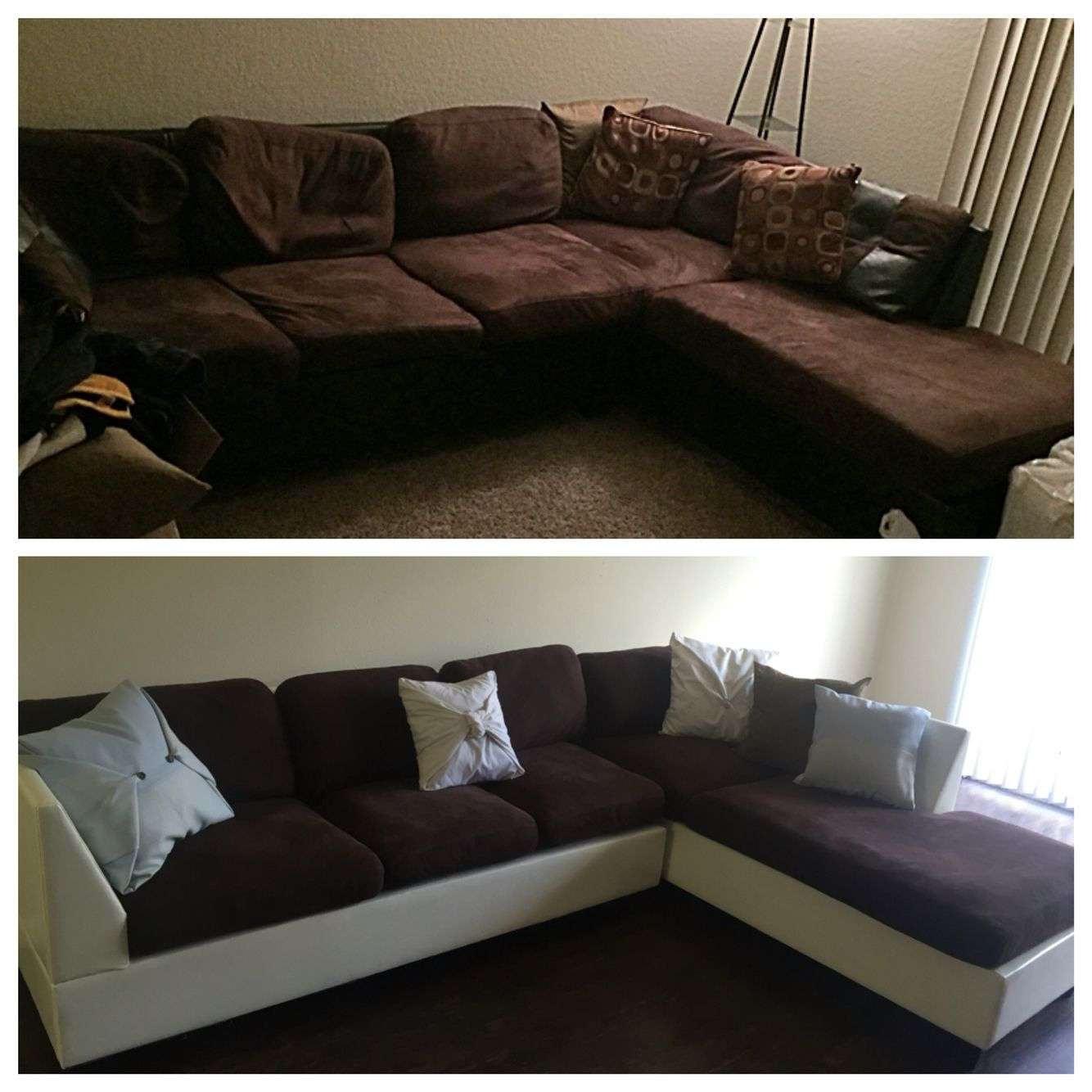 Incredible Couch Makeover Re Stuffed Cushions Painted Outer Part Of Machost Co Dining Chair Design Ideas Machostcouk