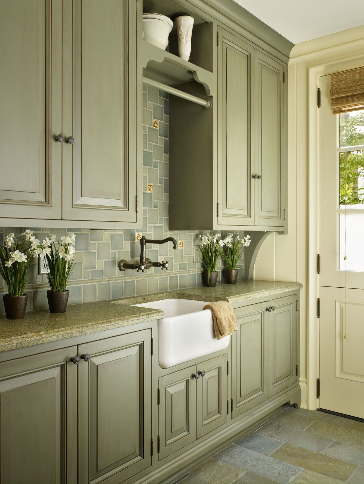 This Is The Sage Green Color Cabinets I Want Green Kitchen