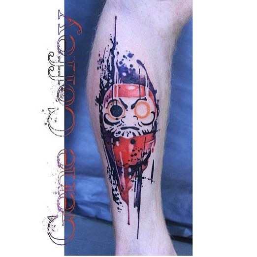 Daruma Tattoo by Gene Coffey. #inked #inkedmag #tattoo #daruma #art #idea…