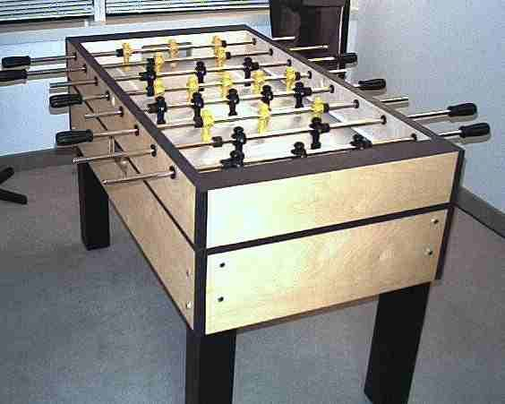 Build A Foosball Table Finished (Click To Enlarge)