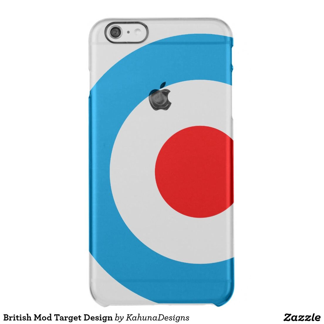 promo code 8dadb 773da British Mod Target Design Clear iPhone 6 Plus Case | Kd iPhone ...