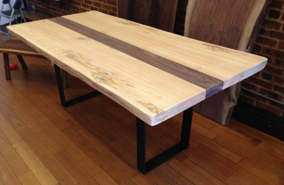 White Maple Live Edge Dining Table Brooklyn By Creationtherrien