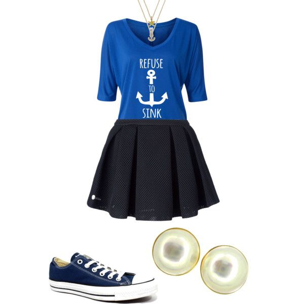 Sink or swim by frosted-tree on Polyvore featuring polyvore, fashion, style, Philipp Plein, Converse, Kabella Jewelry and ABS by Allen Schwartz