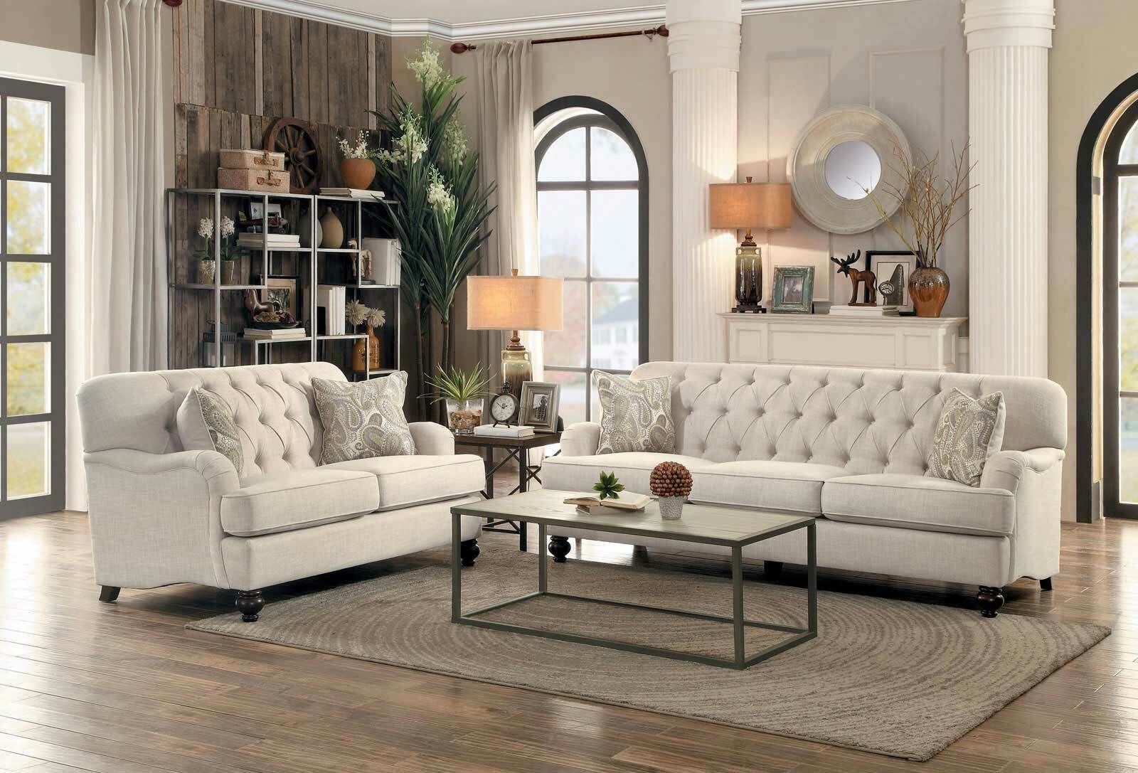 Traditional Living Family Room Couch Set Large Beige Fabric Sofa Loveseat Ig5n Tradition In 2020 Chaise Lounge Living Room Family Room Couch Living Room Sofa Set