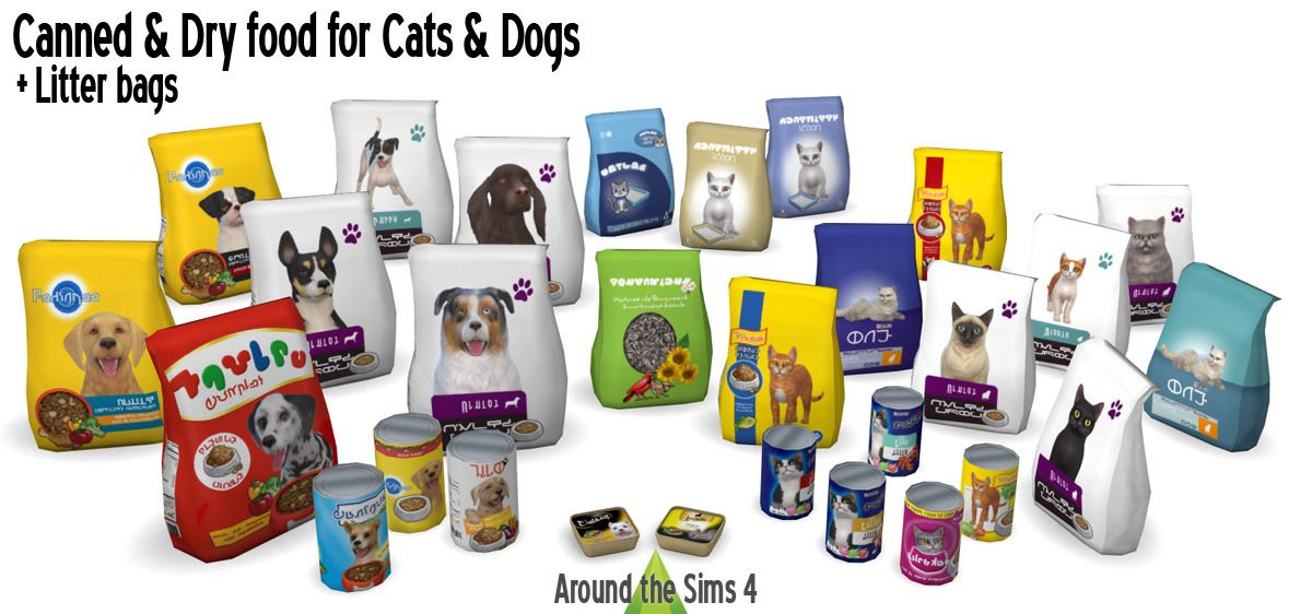 Around The Sims 4 Pet Food Litter Bags Cans I Hope You Re