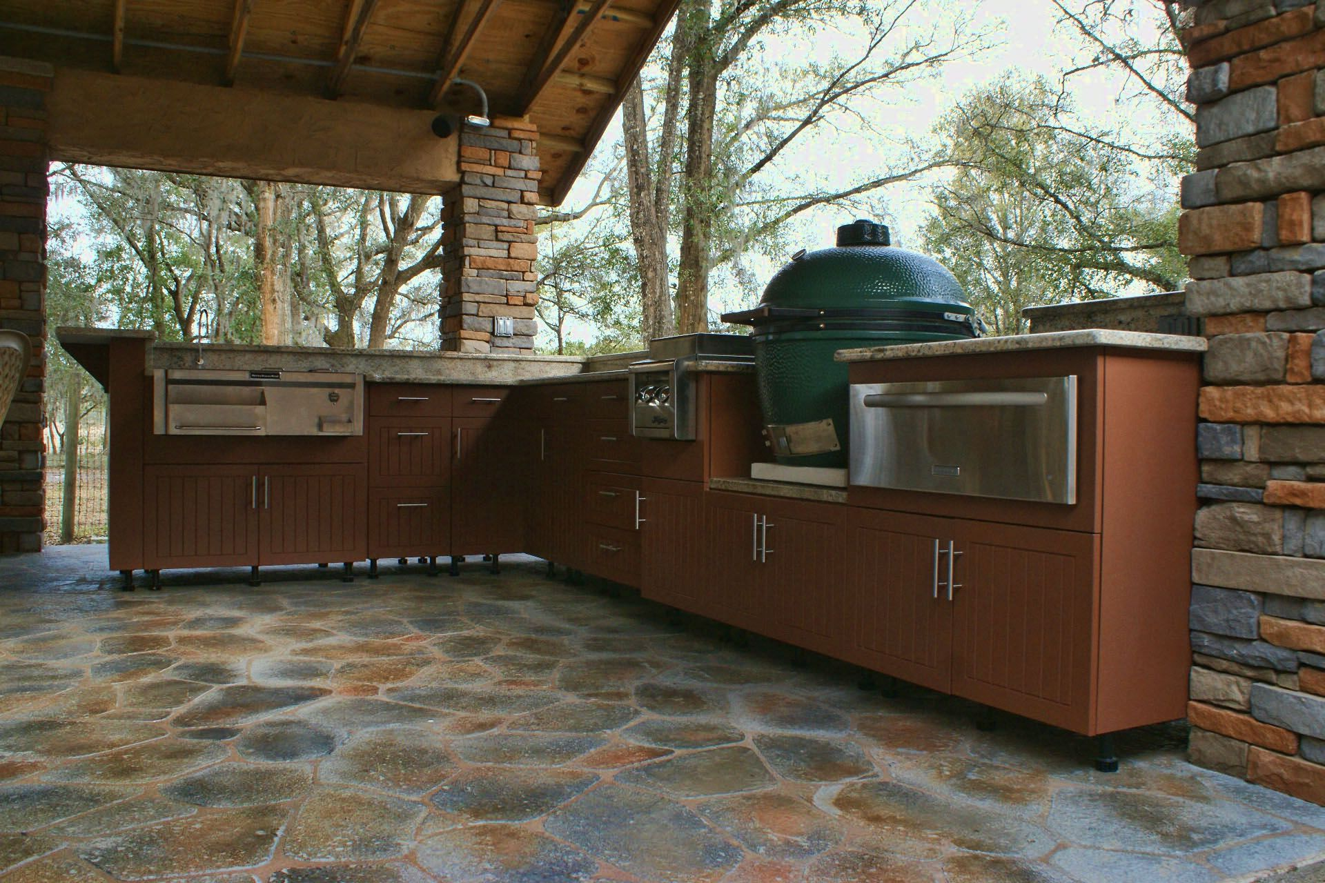 Big Green Egg Kitchen Outdoor Deck Pinterest