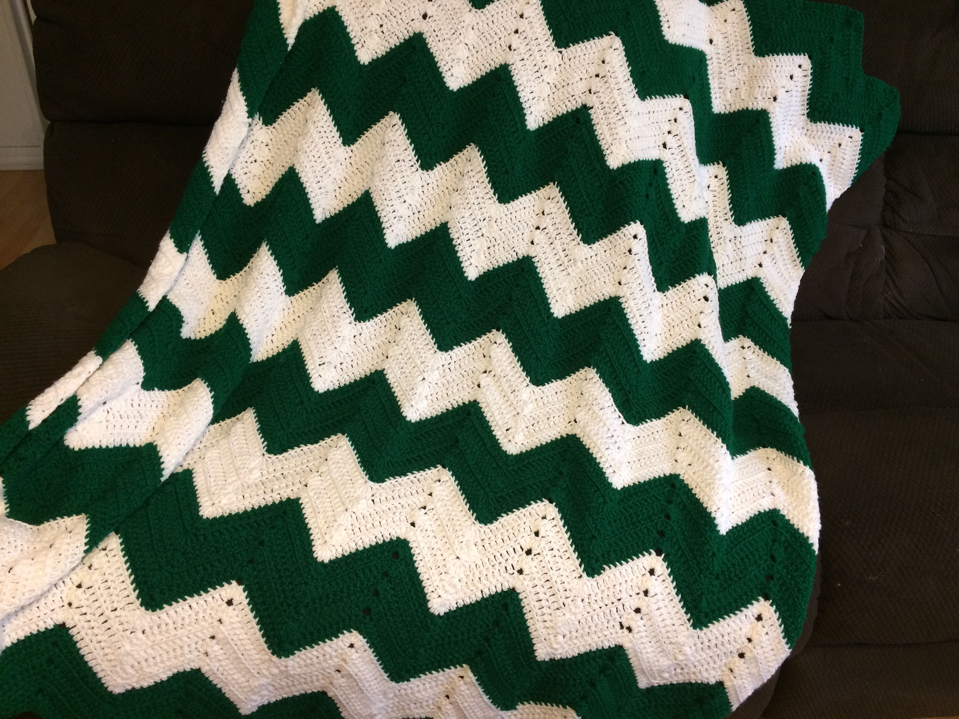 Green And White Chevron Afghan Bedroom Decor Afghans Living Room