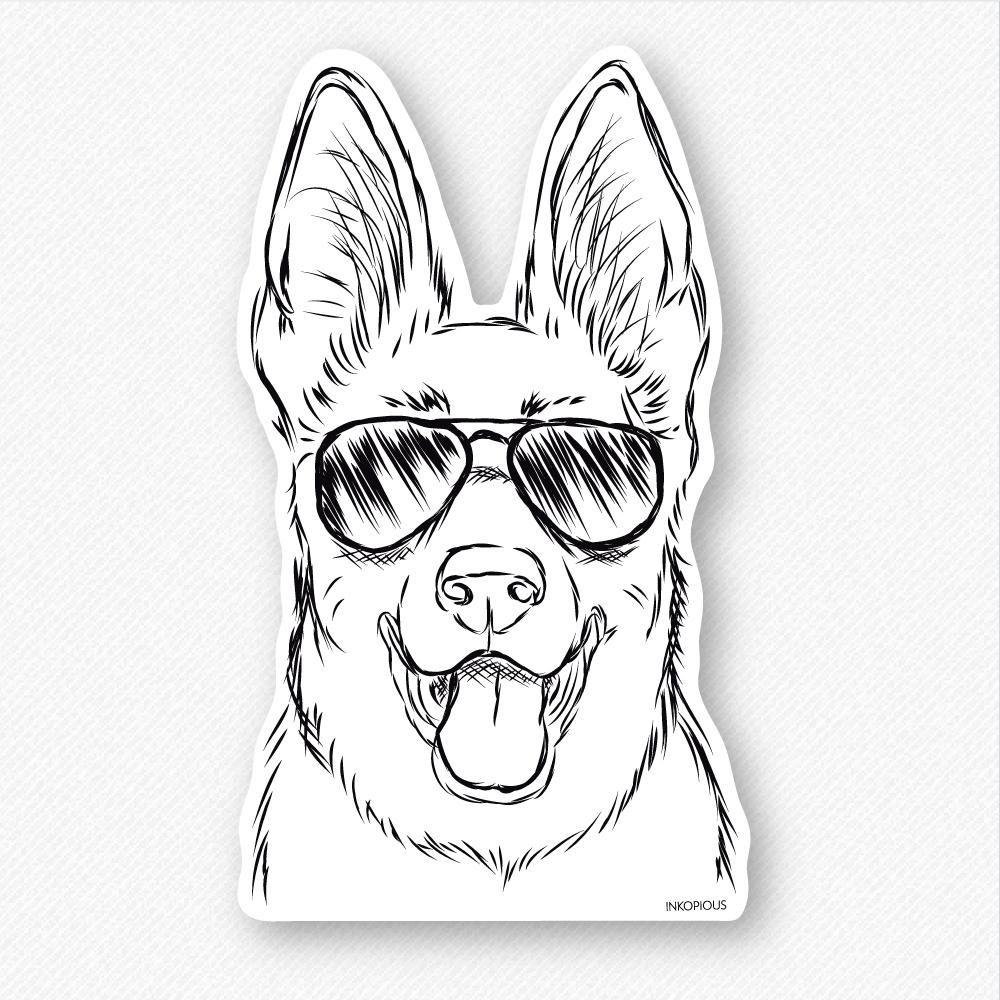 Brutus the German Shepherd Decal Sticker Dog in 2019