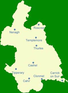 County Tipperary Ireland Map.Map Of Tipperary County Next County Limerick Ireland Counties
