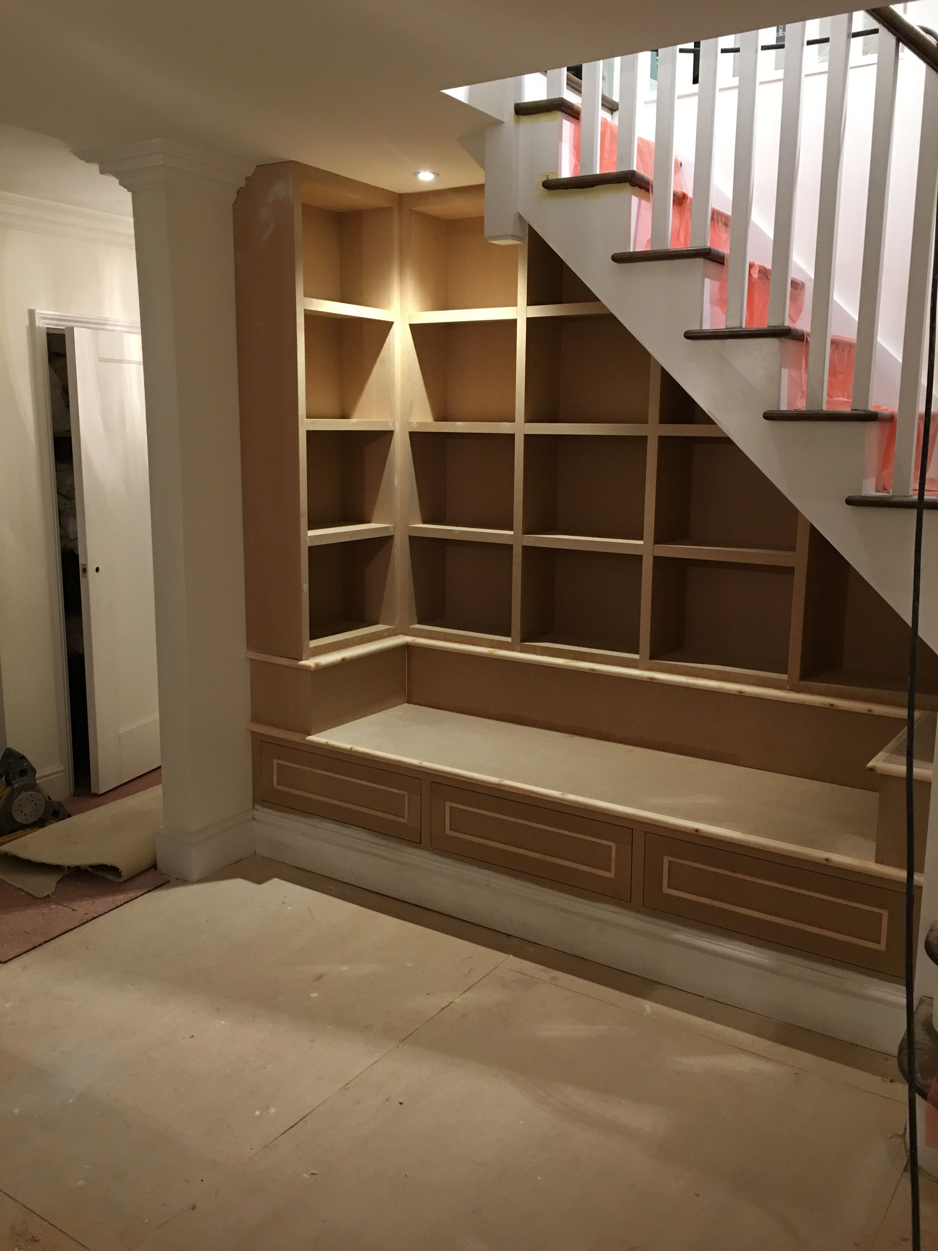 Under Stairs Reading Area With Drawers Other Storage