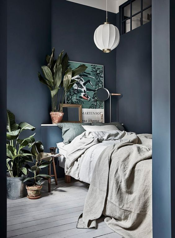 Your Guide To Small Bedroom Decorating Ideas On Pinterest For Your Cozy Home Blue Bedroom Design Blue Bedroom Walls Scandinavian Bedroom Decor