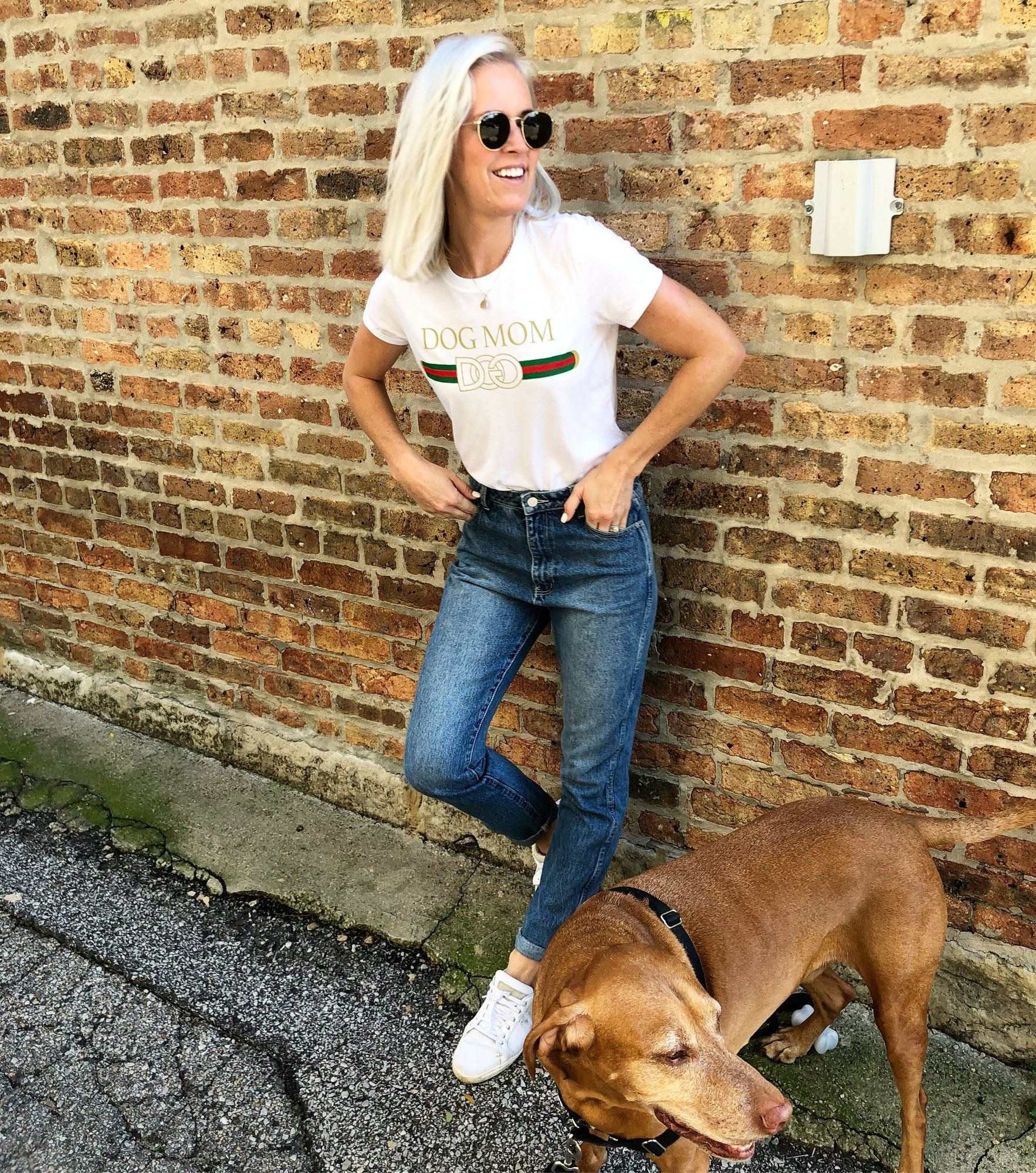 d0a780c9b0947 Designer Dog Mom tee – Taylor Wolfe  style  dogs  ootd