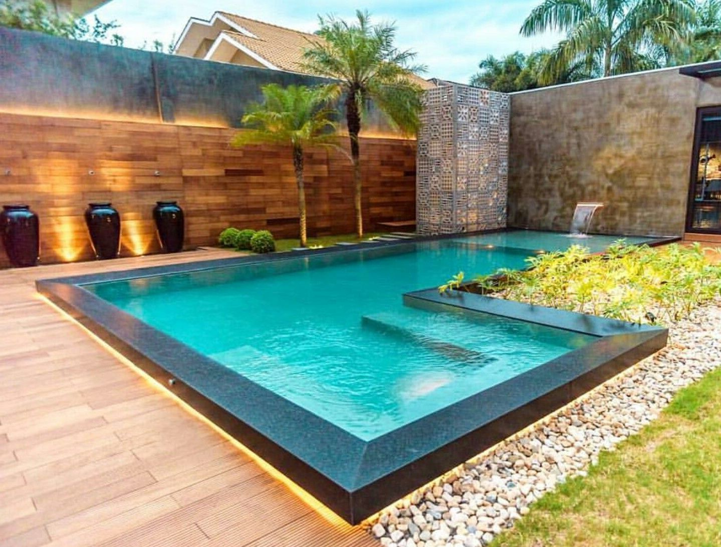 Image result for angular shaped garden in 2020 Swimming