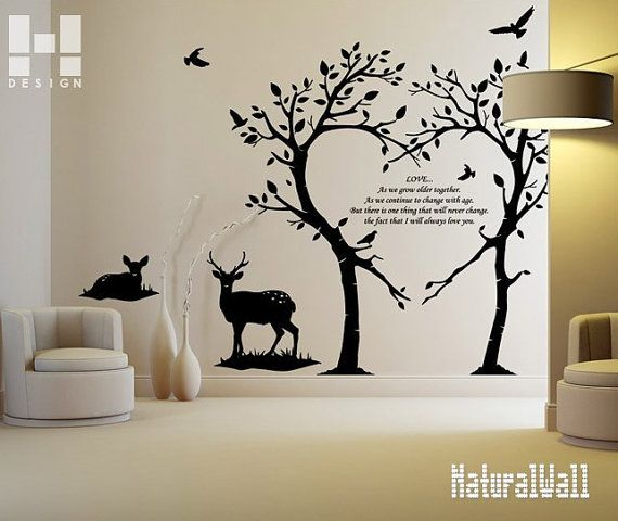 Flower Wall Decals Birds Wall Sticker Nursery Mural Children Wall - Wall decals art