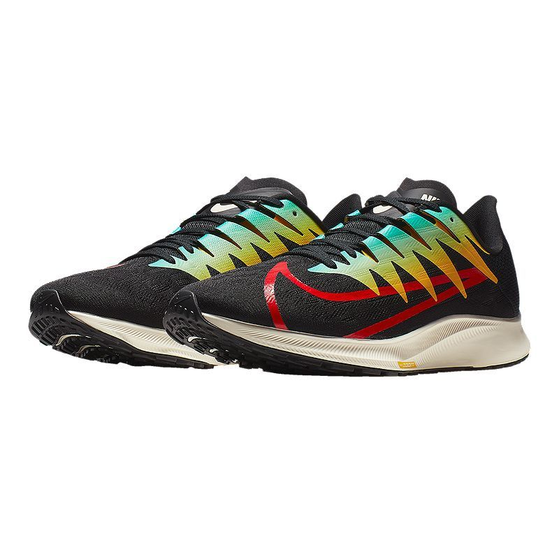 Nike Flyknit Air Max Mens Running Shoes Black White Turbo