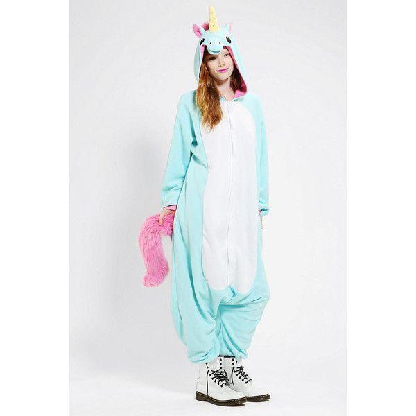 kigurumi unicorn costume 64 liked on polyvore featuring costumes blue multi