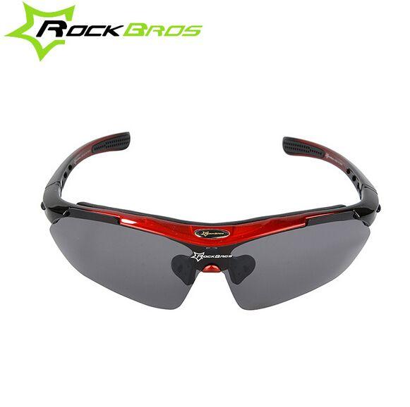 9bd11069ee11 RockBros Polarized Cycling Sunglasses Eyewear Sports Glasses Bike Goggles  UV400 With 5 Lens
