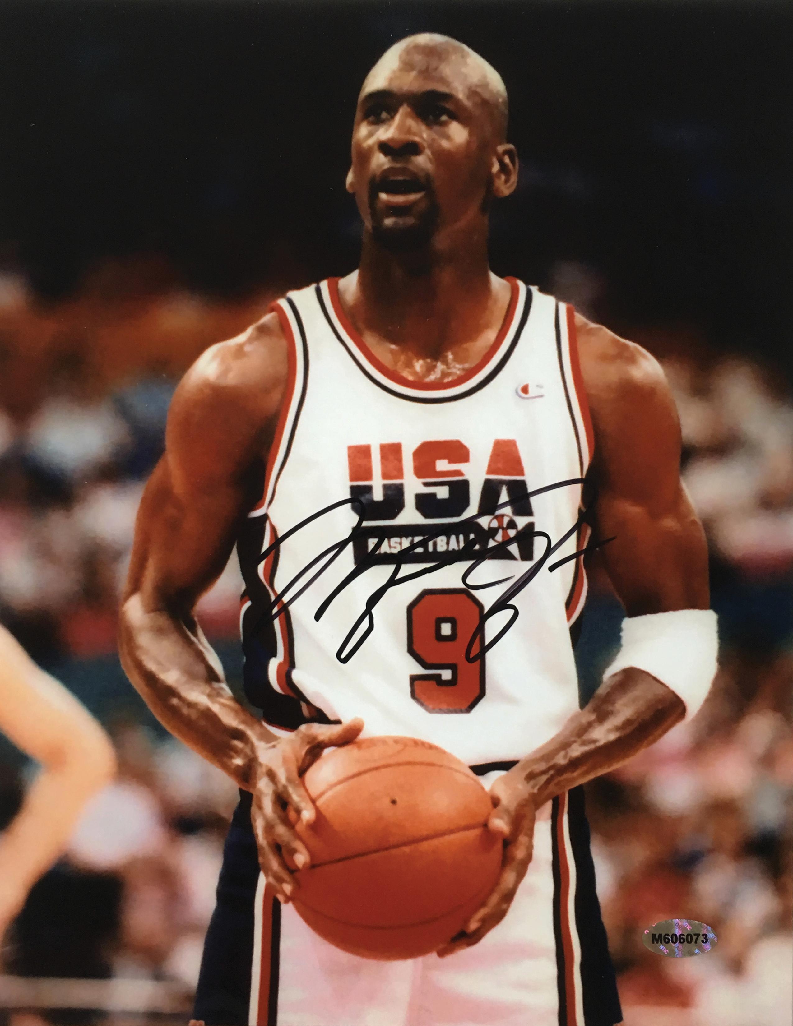 Michael Jordan Signed Chicago Bulls 1992 Dream Team Usa 8x10 Photo Team Usa Basketball Michael Jordan Team Usa