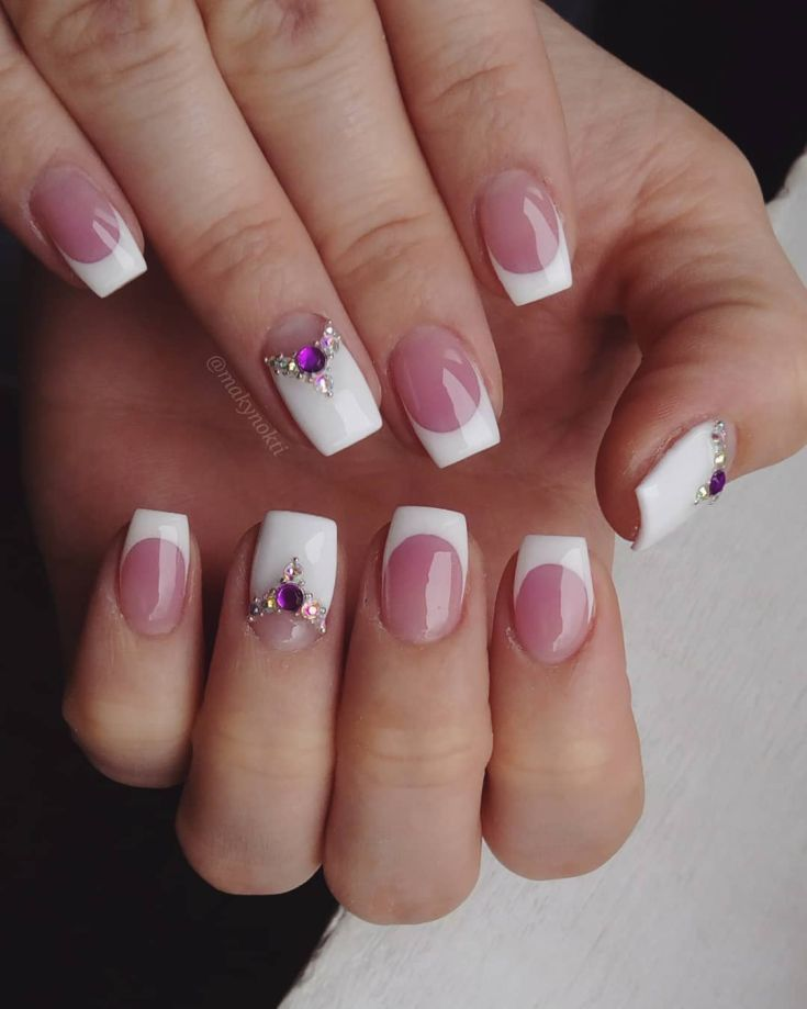 90+ french tip acrylic nails square 2018 | French Nail Designs ...