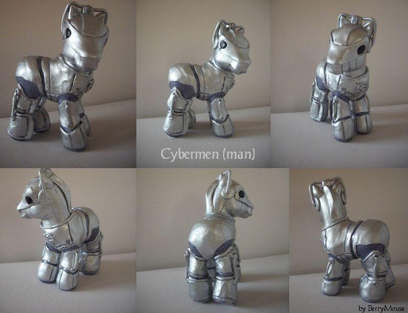 My little Pony Custom Doctor Who Cybermen by BerryMouse.deviantart.com