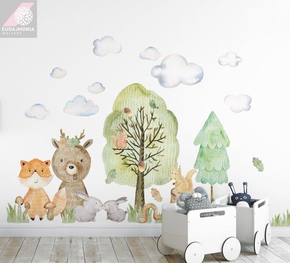 wall decal for kids woodland ii big set forest animals on wall stickers for kids id=99577