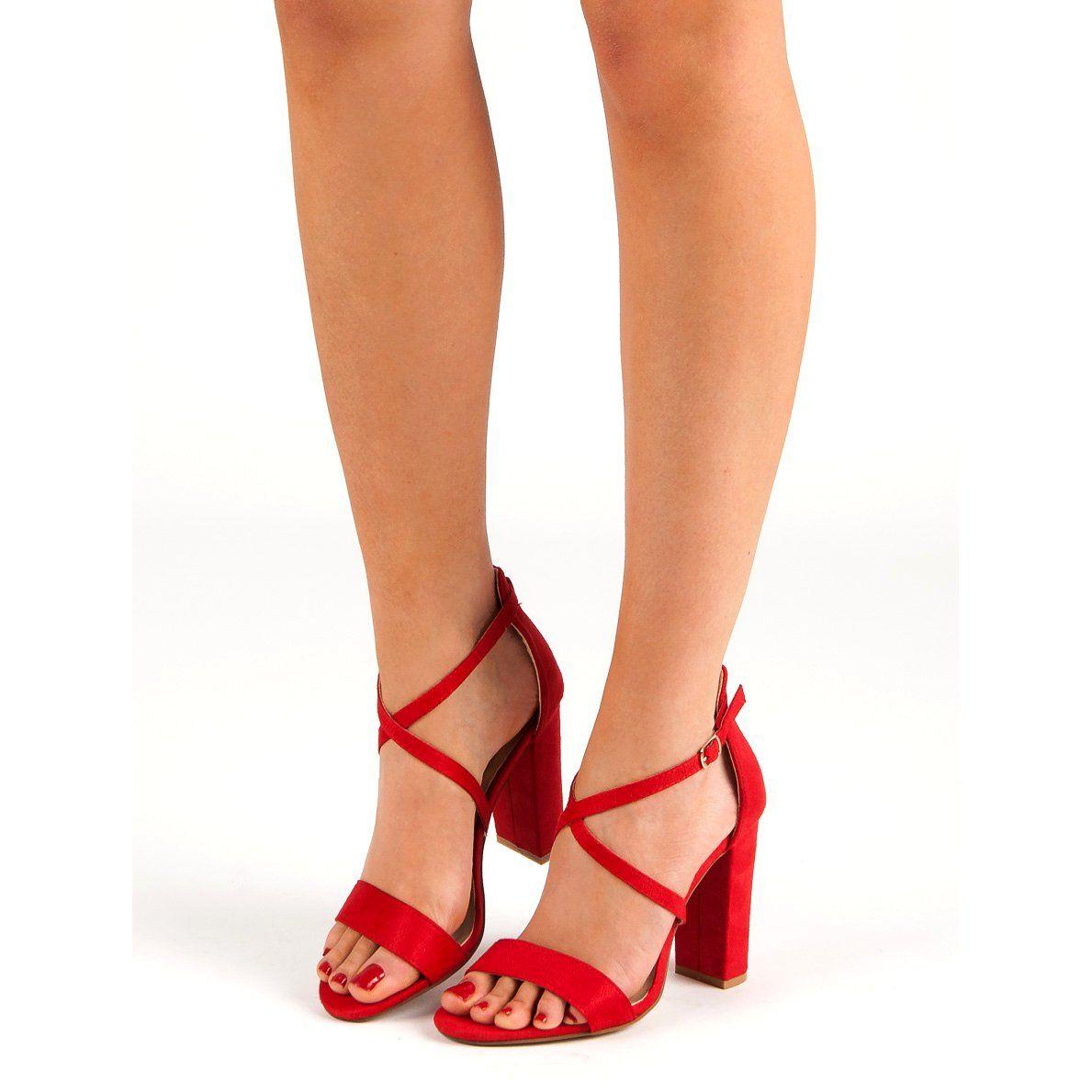 Seastar Eleganckie Czerwone Sandaly Shoes Fashion Mary Janes