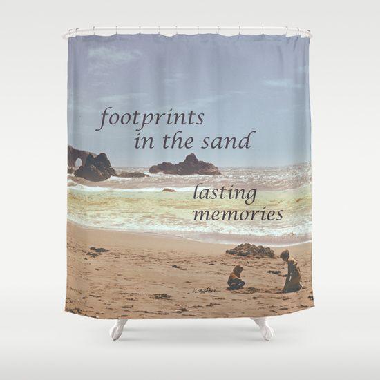 Footprints In The Sand Shower Curtain By Vikki Salmela On Society6