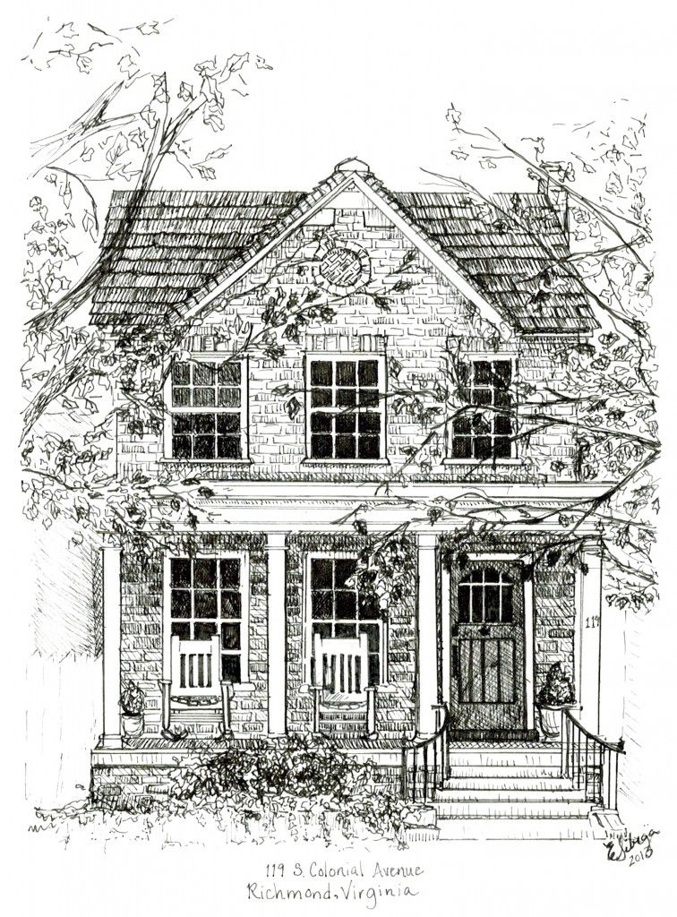 Pretty House Coloring Page