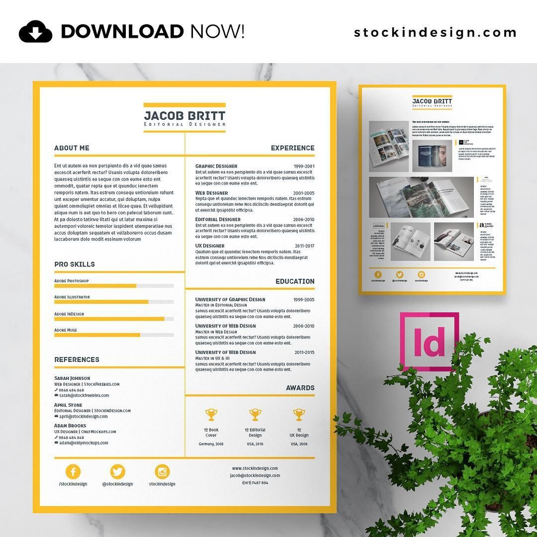 DOWNLOAD NOW! 🆔 InDesign Resume Template 🔻 www
