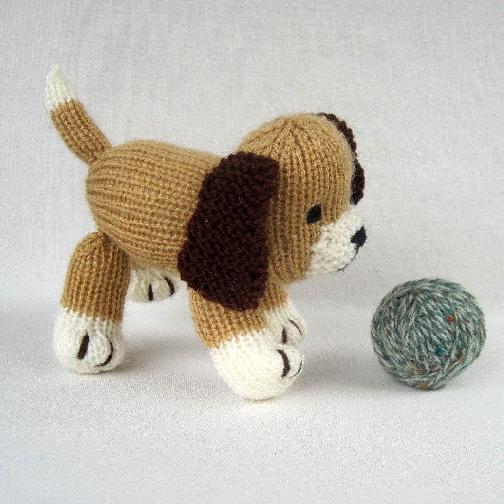 Muffin the puppy - toy dog - PDF knitting pattern email. $3.95, via ...