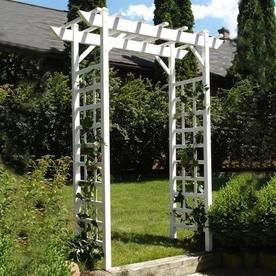 Lovely 28 In W X 85 In H White Craftsman/Mission Garden Arbor Vinyl Lowes 177.00
