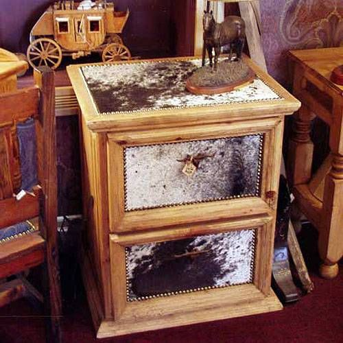 File Cabinet With Cowhide From Colorado Cowgirls