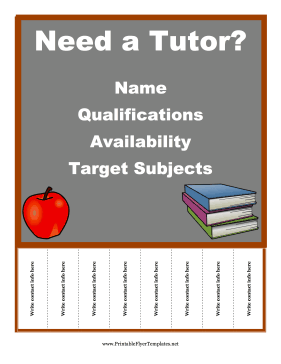 FREE Flyer Templates  All Sorts To Choose From. This One: Tutoring. The  Free Printable Flyer Templates