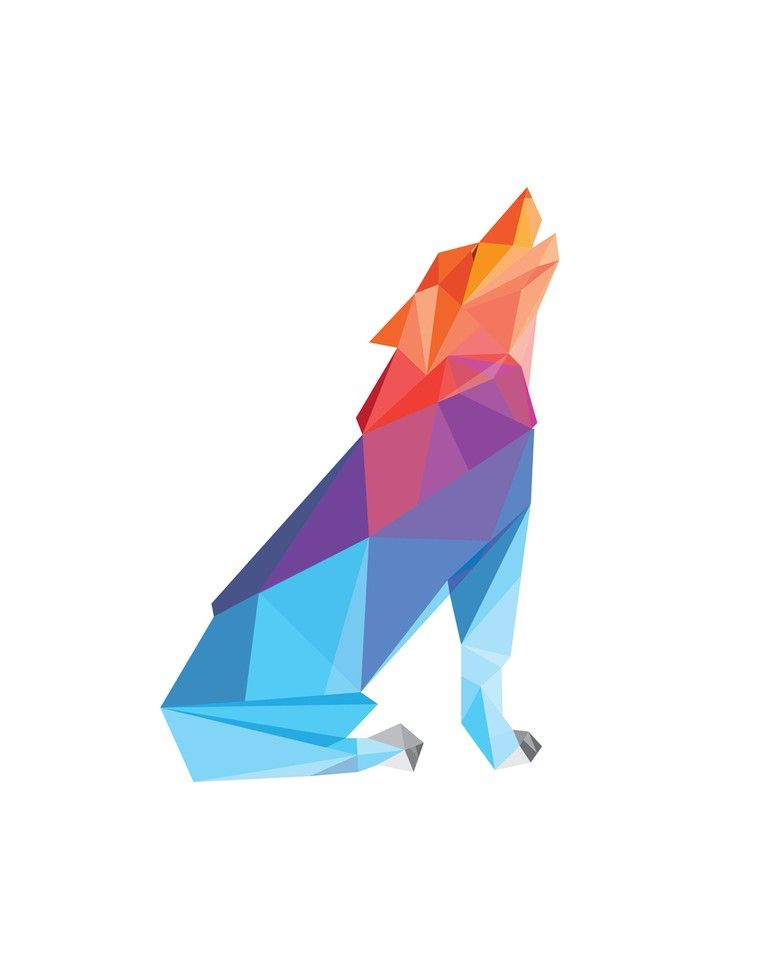 polygonal wolf :) great idea for a tattoo