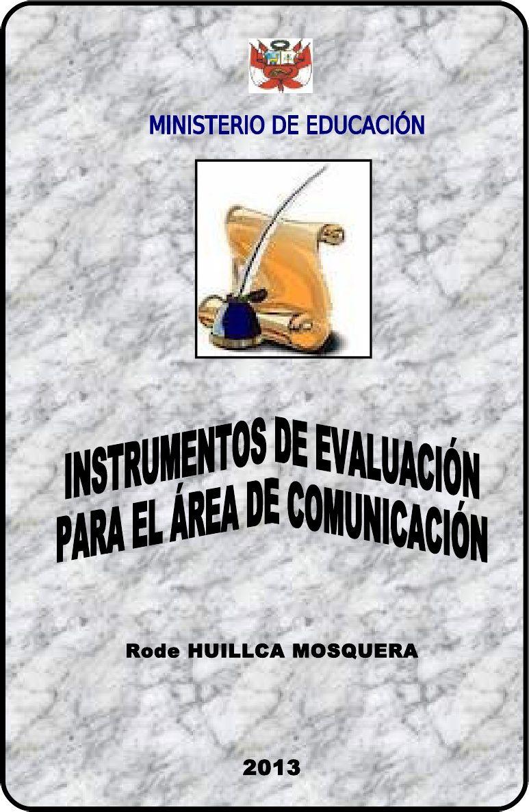 INSTRUMENTOS DE EVALUACIÓN FOLLETO RHM | rina | Pinterest ...
