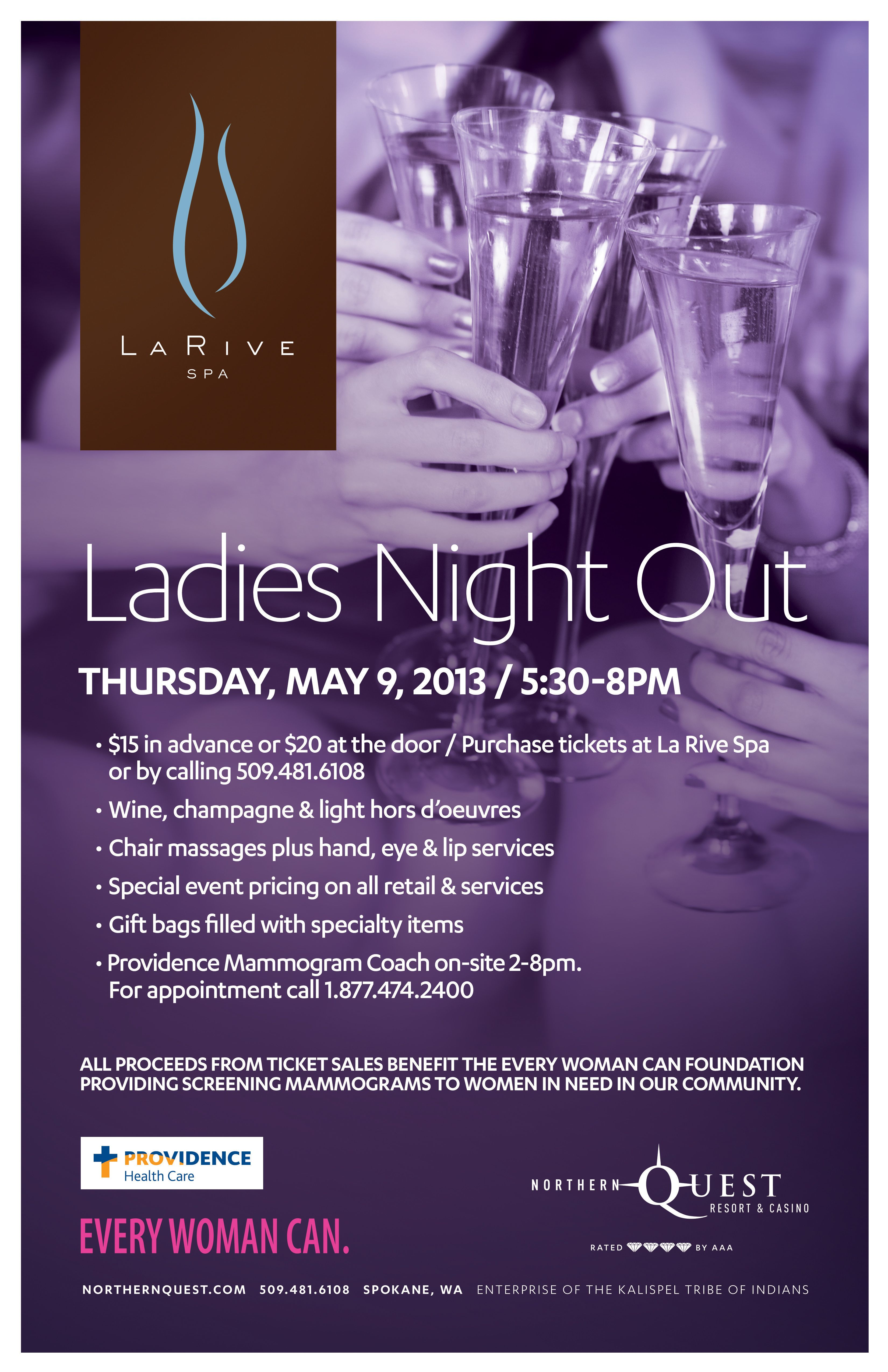 Ladies Night Out - Every Woman Can event at La Rive Spa #Spokane https: