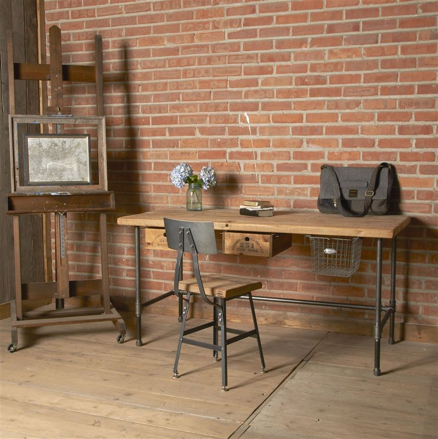Reclaimed Desk | Modern Wood Office Desk | Industrial Table