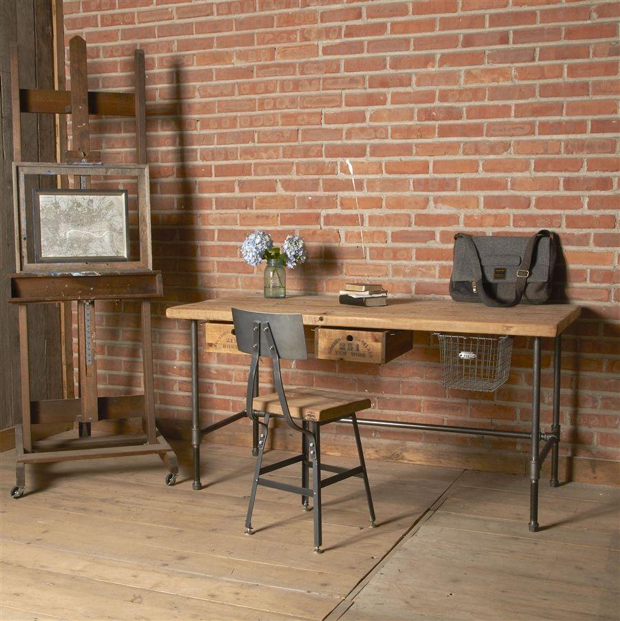 Attractive Reclaimed Desk | Modern Wood Office Desk | Industrial Table