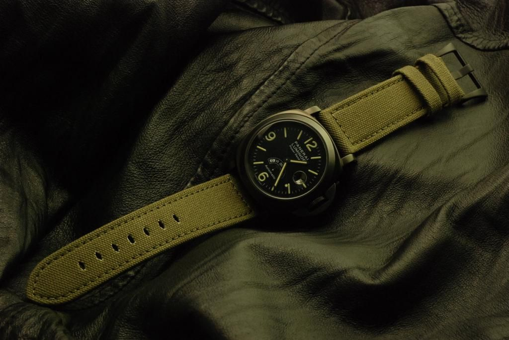 Panerai with green fabric strap