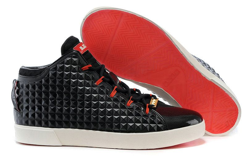innovative design 46724 d3476 LeBron 12 NSW Lifestyle 716417 001 Black Challenge Red