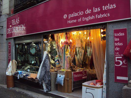 Madrid el palacio de las telas esparteros 13 28012 madrid - Outlet de telas en madrid ...