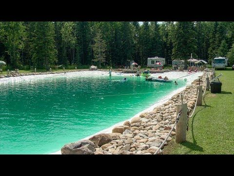 This Man Built A Gigantic Backyard Swimming Pool 90 Foot Backyard Swimming Pool Backyard Beach Diy Swimming Pool Building A Swimming Pool